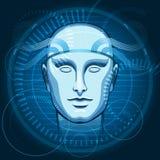 Cyber głowa ilustracja wektor