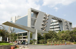 Cyber Gateway offices, Hyderabad. HYDERABAD, ANDHRA PRADESH, INDIA - JANUARY 5: The Cyber Gateway office complex in Hi Tech City.  The area is home to many Royalty Free Stock Image