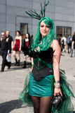 Cyber girl at Wave-Gotik-Treffen stock image