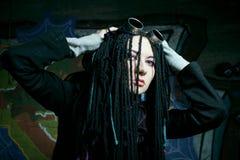 Cyber gothic girl Stock Photo