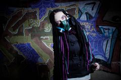 Cyber gothic girl Stock Photo