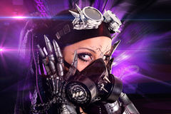 Cyber-Gothic girl royalty free stock image