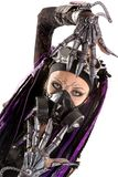 Cyber-Gothic girl isolated Royalty Free Stock Image