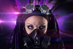 Cyber-Gothic girl Royalty Free Stock Photography