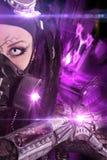 Cyber-gotisk flicka Arkivbild