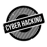 Cyber Hacking rubber stamp Stock Photos