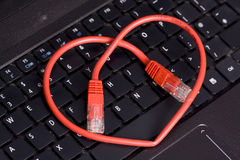 Cyber heart love abstract Stock Image