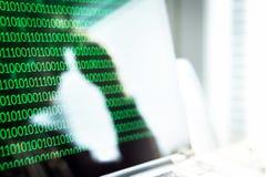Cyber het intimiderende, online fraude of concept van het computervirus royalty-vrije stock foto