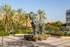 Cyber Horse, Tel Aviv University. TEL AVIV, ISRAEL - DECEMBER 5: Cyber Horse, sculpture of Trojan horse at Tel Aviv University, Israel on December 5, 2016 Royalty Free Stock Photo
