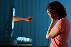 Cyber internet computer bullying Royalty Free Stock Images