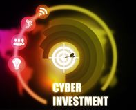 Cyber Investment concept plan graphic. Background Royalty Free Stock Images