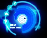 Cyber Investment concept plan graphic. Background Royalty Free Stock Image