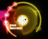 Cyber Investment concept plan graphic. Background Stock Image