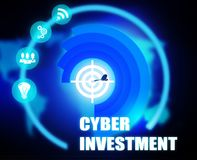 Cyber Investment concept plan graphic. Background Royalty Free Stock Photos