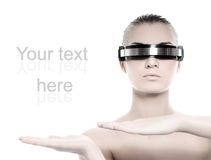 cyber - kobieta Zdjęcia Royalty Free