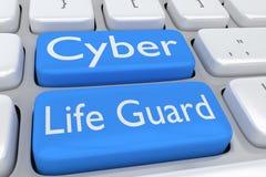Cyber-Leben-Schutzkonzept Lizenzfreie Stockfotografie