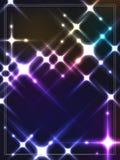 Cyber lichte kaart Stock Foto