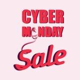 Cyber måndag med en datormus försäljning Arkivbild