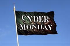 Cyber måndag - shopping Arkivfoto