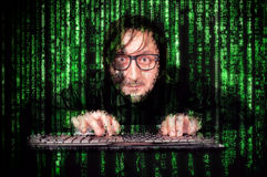 Cyber mężczyzna Fotografia Royalty Free