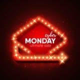 Cyber-maandag Royalty-vrije Stock Foto's