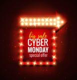 Cyber-maandag Stock Afbeelding