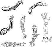 Cyber-Mains biomécaniques Images libres de droits