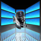 Cyber man, robots head Royalty Free Stock Photo