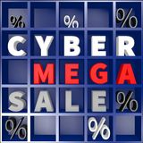 Cyber mega sale concept... Royalty Free Stock Image