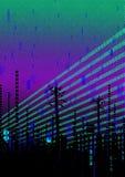 Cyber miasto ilustracja wektor
