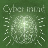 Cyber mind stock illustration
