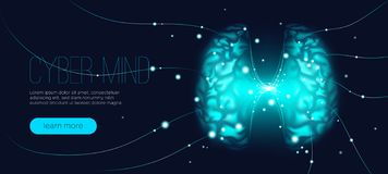 Cyber Mind Concept, Artificial Intelligence. vector illustration