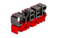 Cyber Monday on white reflected background. 3D illustration. vector illustration
