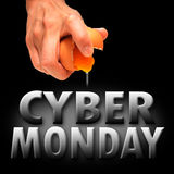 Cyber monday. America background banner Royalty Free Stock Images