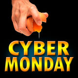 Cyber monday. America background banner Stock Image