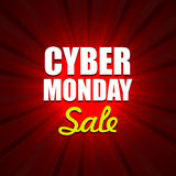 Cyber Monday Background with Sale Tag on Red Royalty Free Stock Photography