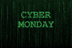 Cyber Monday background Stock Photography