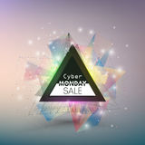 Cyber monday banner, colorful style element for Royalty Free Stock Photos