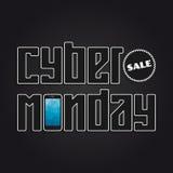 Cyber Monday banner stock illustration