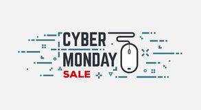 Cyber monday banner Stock Image
