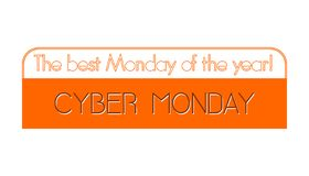 Cyber Monday - the best Monday of the year. vector illustration