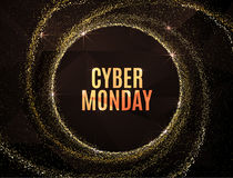 Cyber monday Big sale banner design. Cyber monday Big sale banner color design. Vector illustration template Royalty Free Stock Photo