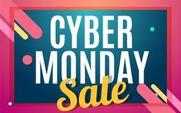 Cyber monday Big sale banner design. Stock Photo