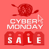 Cyber monday, Big Sale, creative template on flat design. Market, appliances, monday, display, merchandise, retail, red, business, sign, , symbol, internet Stock Photo