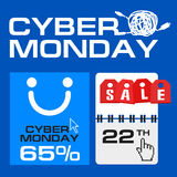 Cyber monday, Big Sale, creative template on flat design Royalty Free Stock Photography