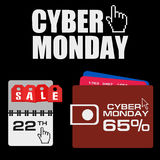 Cyber monday, Big Sale, creative template on flat design Stock Image