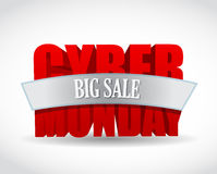 Cyber monday big sale sign and mouse. Stock Image