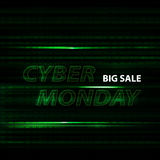 Cyber monday binary code design Stock Photo
