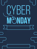 Cyber Monday blue flyer design Stock Photography