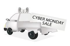 Cyber Monday Card on A Pickup Truck Stock Photos